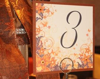 Autumn Elegance Table Numbers