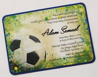 Vintage Soccer Splatter Invitation