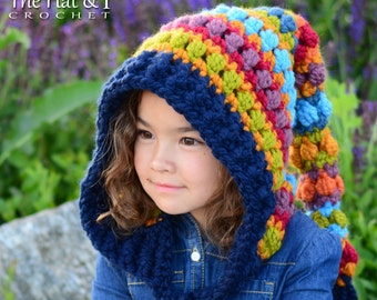 1af74507631 Crochet PATTERN - Bohemian Nights Hoodie - crochet hood pattern