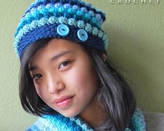 Crochet Hat Scarf Etsy