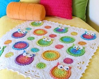 Crochet PATTERN - Owl Obsession - crochet blanket pattern, owl afghan pattern, crochet owl baby blanket pattern - Instant PDF Download