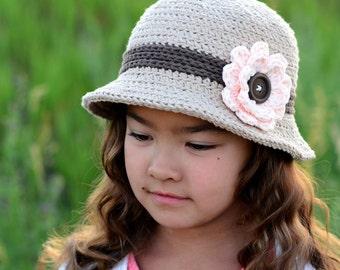 CROCHET PATTERN - Always Elegant Sun Hat - crochet summer hat pattern, cloche hat, spring hat (Infant - Adult sizes) - Instant PDF Download