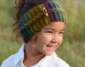 Crochet PATTERN - Autumn Breeze Headwrap - crochet headband pattern braid head wrap (Infant Baby Toddler Child Adult) - Instant PDF Download