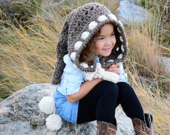 28cdb6bec3d Crochet PATTERN - Forest Fairy - crochet hood pattern