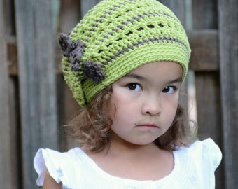 Crochet Hat PATTERN - Woodland Slouchy hat - crochet pattern for women girls slouch hat (Toddler Child Adult sizes) - Instant PDF Download