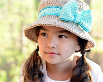 CROCHET PATTERN - Southern Belle - crochet hat pattern sun hat crochet pattern ladies summer hat (Baby - Adult sizes) - Instant PDF Download