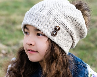 CROCHET PATTERN - Sunset Slouchy - crochet hat pattern, slouchy beanie w/ cuffed brim (Toddler Child Adult sizes) - Instant PDF Download