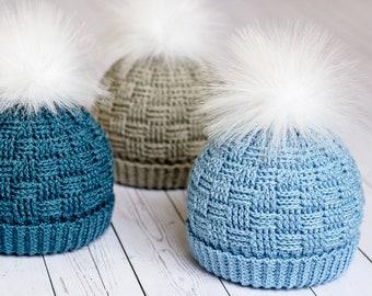 Crochet Hat PATTERN - Timeless Texture Toque - crochet pattern for boys  girls unisex beanie 1e6e7270feb