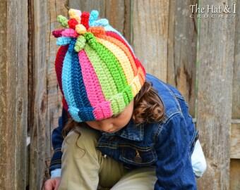 edcc6850b50 Crochet Hat PATTERN - Tutti Frutti - crochet pattern for boy or girl beanie