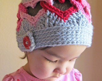 a4e8f1cb2a5 Crochet Hat PATTERN - Be Mine - crochet pattern for heart hat