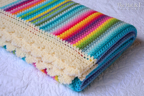 Crochet Blanket Pattern Crayon Box Blanket Crochet Pattern Etsy