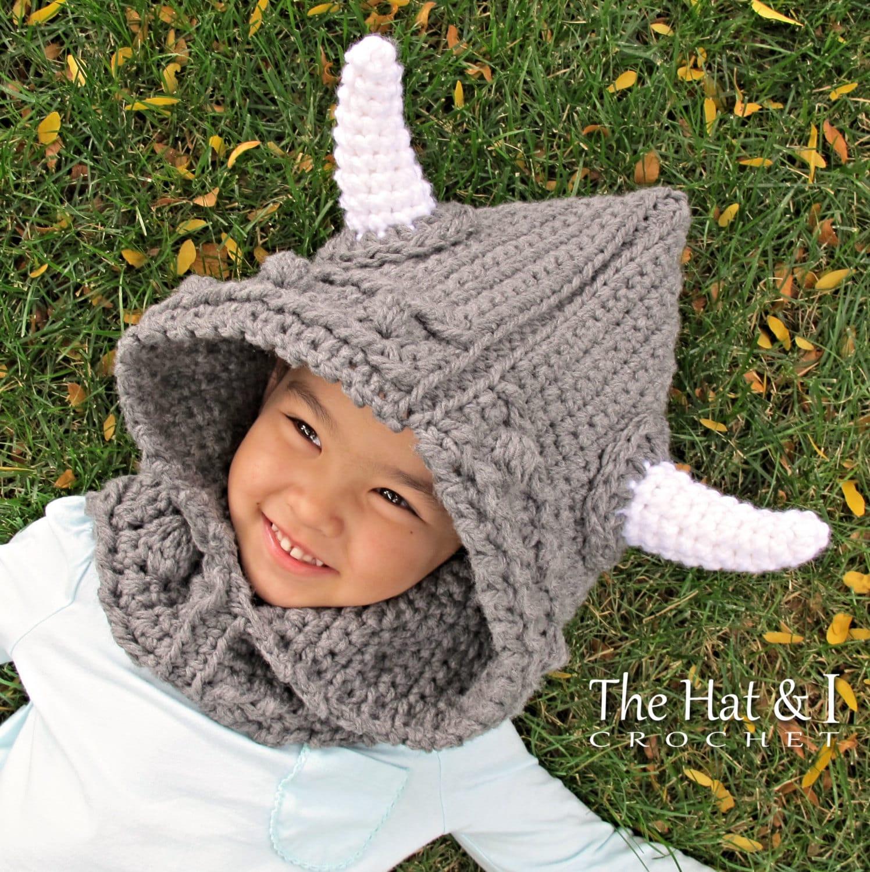Crochet Pattern Viking Style Crochet Hood Pattern Hooded Etsy