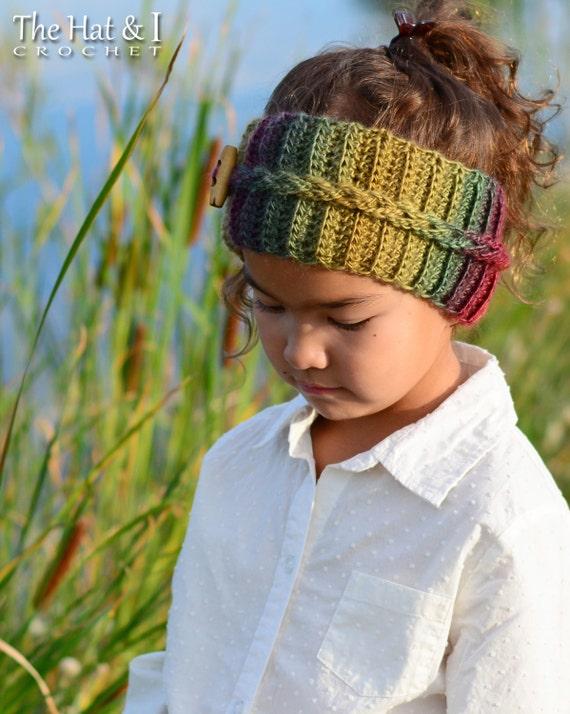 Crochet Pattern Autumn Breeze Headwrap Crochet Headband