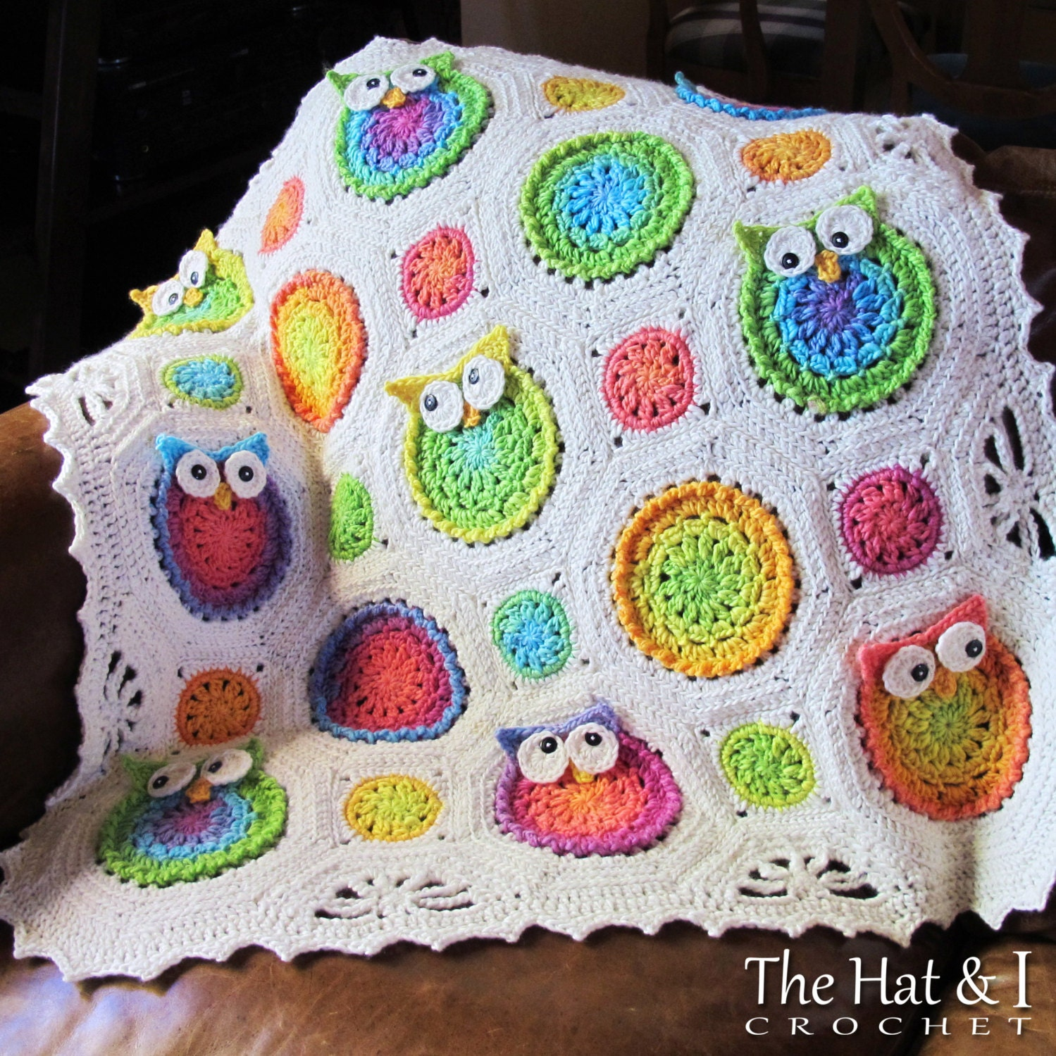 Crochet Blanket PATTERN - Owl Obsession - crochet pattern owl ...