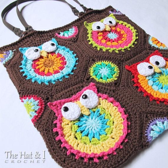 Crochet Pattern Owl Toteem Crochet Bag Pattern Owl Etsy