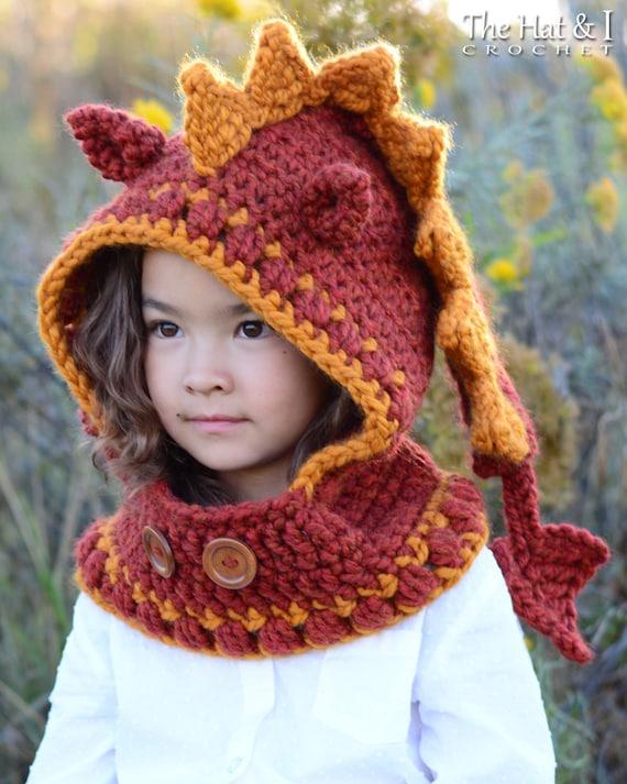Crochet Pattern Lucky Dragon Hood Cowl Crochet Hood Etsy