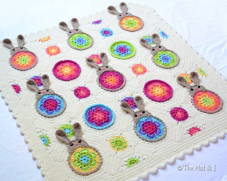 Crochet Blanket Pattern Bunnies R Us Crochet Etsy