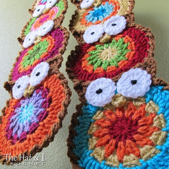 Crochet Scarf Pattern B Hoo Ur Scarf Crochet Pattern For Etsy
