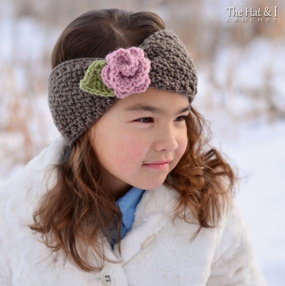 Crochet Pattern Cottage Rose Warmer Crochet Headband Head Etsy