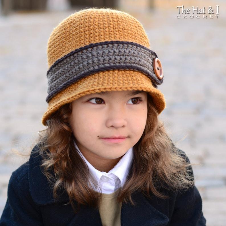 ae567438264 Crochet Hat PATTERN Uptown Girl cloche or bowler hat