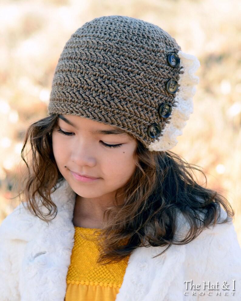 1d1eba86a73 Crochet Hat PATTERN Ruffle Romance crochet pattern women