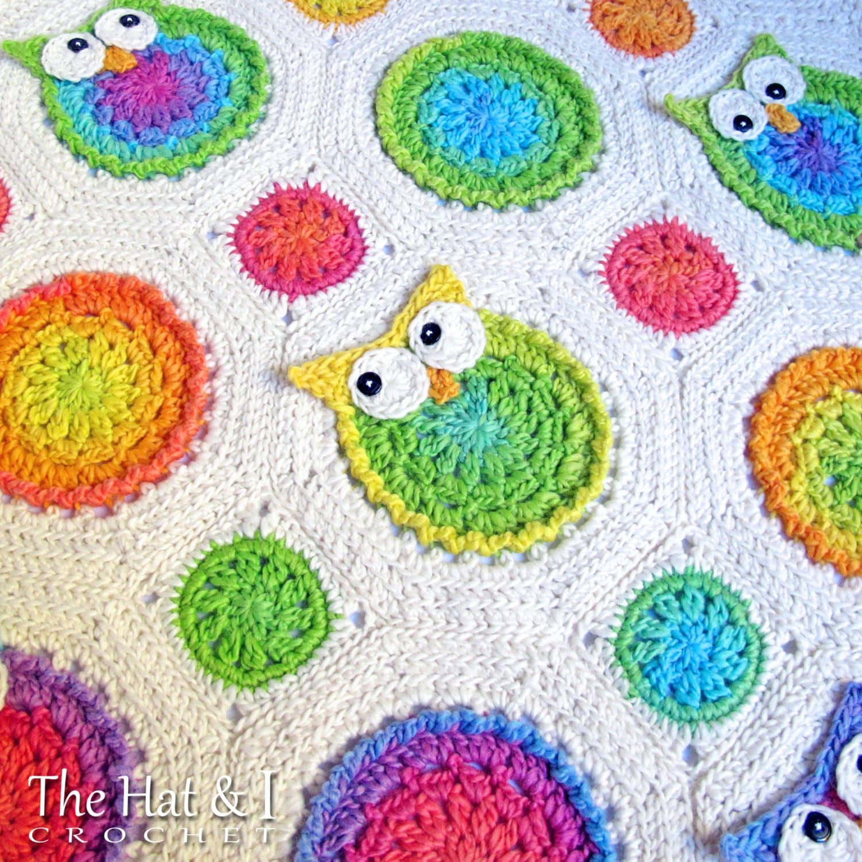 Crochet Blanket Pattern Owl Obsession Crochet Pattern Owl Etsy