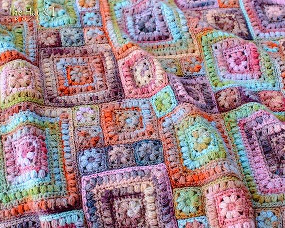 Crochet PATTERN  Square Scramble  crochet blanket pattern