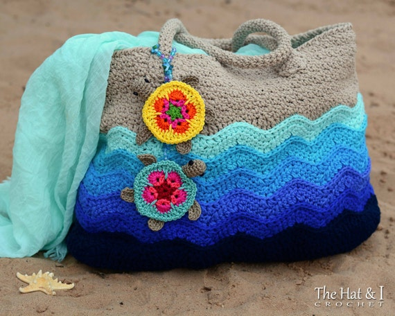 Crochet Pattern Turtle Beach Tote Crochet Bag Pattern Etsy