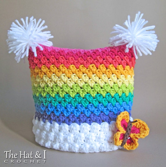 Crochet Hat Pattern Over The Rainbow Crochet Pattern For Rainbow