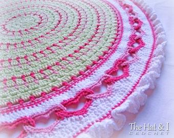 Crochet Blanket PATTERN - Baby Love - crochet pattern for baby blanket, crochet afghan pattern, linked heart afghan - Instant PDF Download
