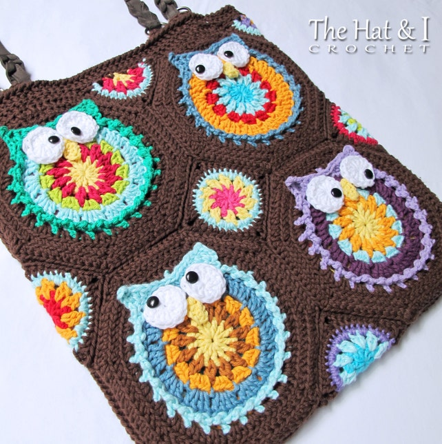 Crochet Pattern Owl Toteem Crochet Bag Pattern Owl Etsy