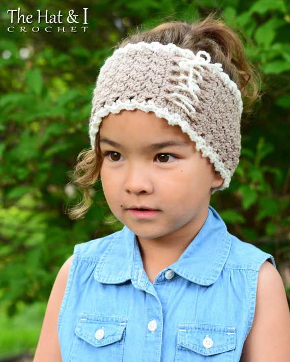 Crochet Pattern Cottage Chic Head Wrap Crochet Headband Etsy