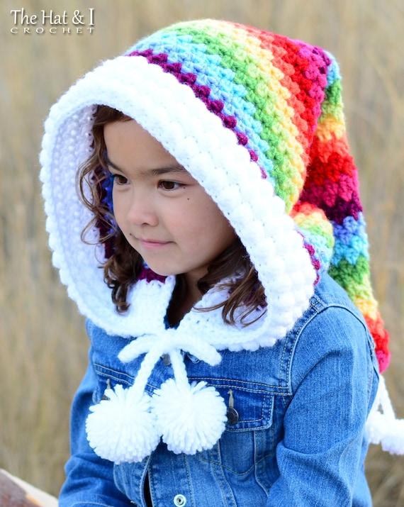 Crochet PATTERN Over the Rainbow crochet hood pattern  741e8d37100