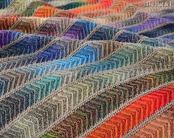 Crochet Blanket PATTERN - Super Fine Sampler - crochet pattern for chevron throw blanket, boho crochet afghan pattern - Instant PDF Download
