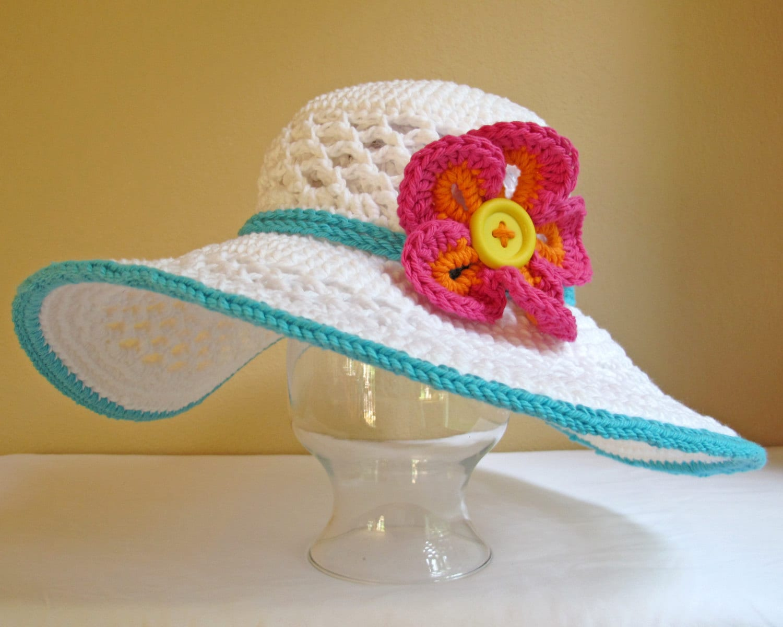 Crochet Hat Pattern Aloha Crochet Pattern For Summer Sun Etsy