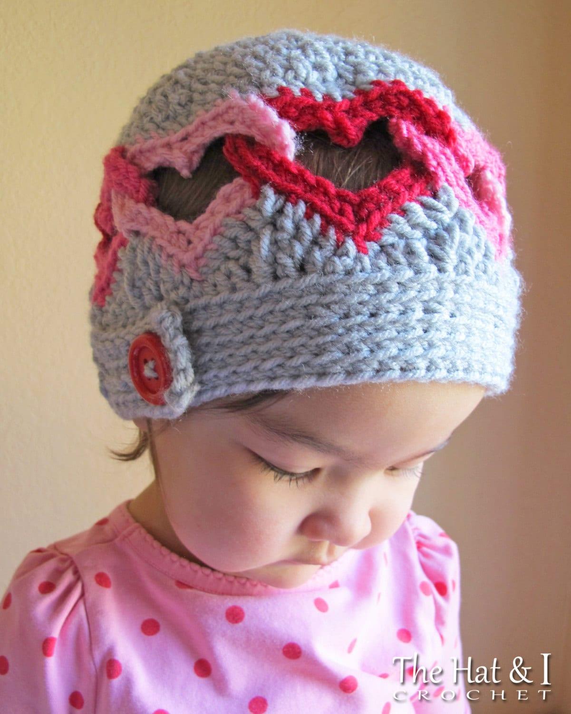 Crochet Hat PATTERN Be Mine crochet pattern for heart hat  bb9dbfc7a3e