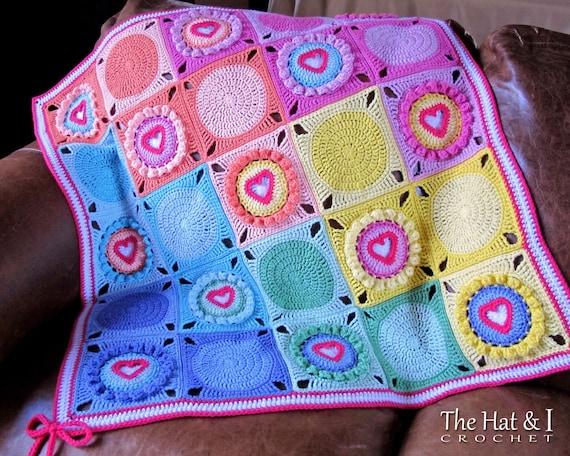 Crochet Blanket Pattern Follow Your Heart Crochet Pattern Etsy