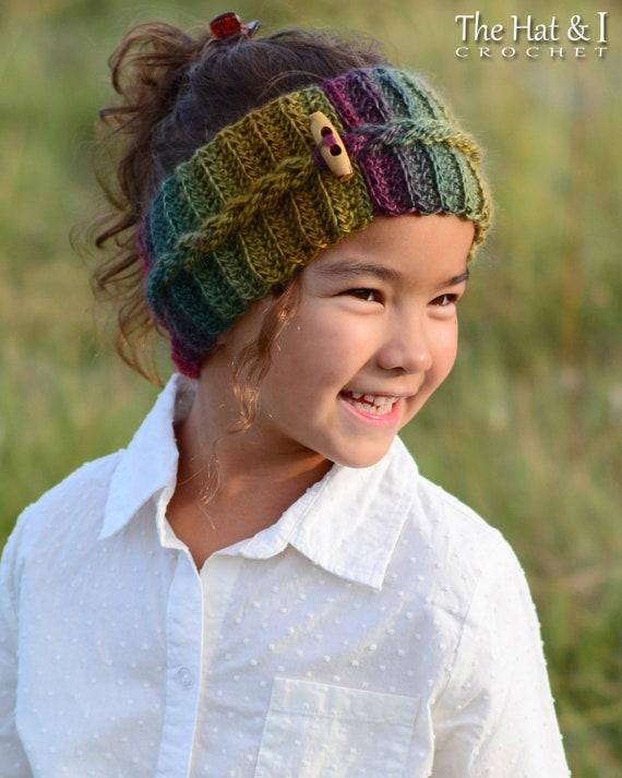 Crochet Pattern Autumn Breeze Headwrap Crochet Headband Etsy