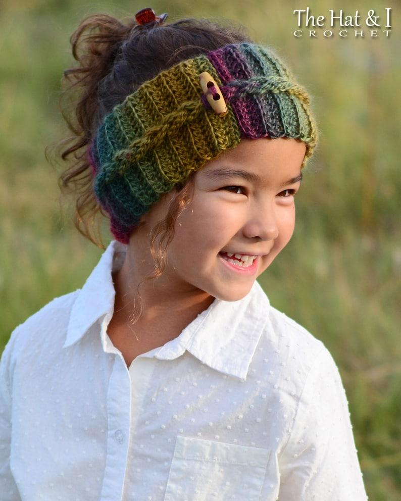 Crochet PATTERN  Autumn Breeze Headwrap  crochet headband image 0