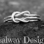 Love Knot Ring-LOVERS KNOT RING - sterling silver knot ring - rose pink gold knot ring - gold knot ring -sailor knot-double strand knot ring