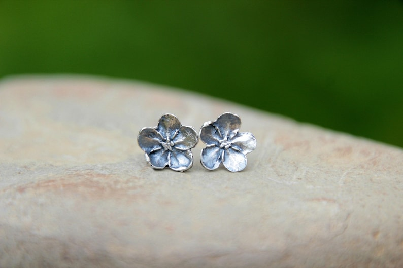 Stud Earrings  FORGET-ME-NOT Earrings  Stud Flower Earrings image 0
