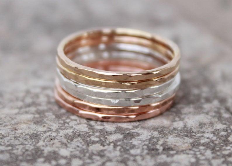 THIN STACKING RINGS  layering rings  spacer rings  stacking image 0