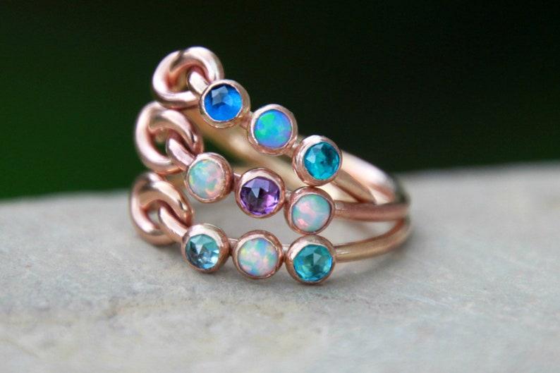 KNOT RING  gemstone knot ring  multi gemstone knot ring  image 0