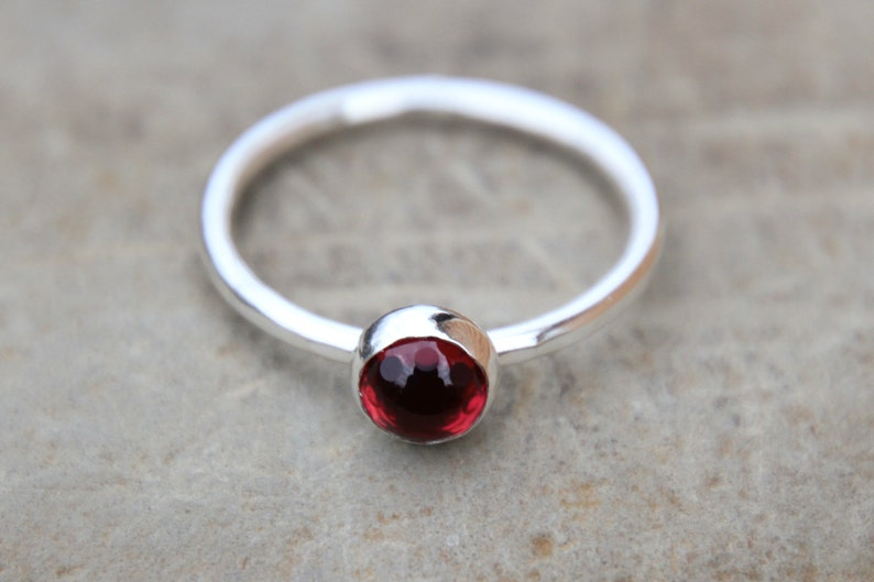 Ruby Bubble Ring  Bubble Ring  bubble gemstone  stacking image 0