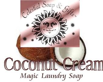 Coconut Cream 2 pounds 12 oz Natural VEGAN Laundry Soap Powder Bag. - 40-80 LOADS Gross Wt. 44 oz. Detergent Bulk Economical
