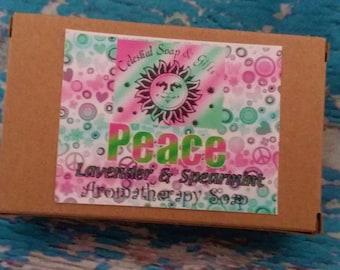 NEW Peace Aromatherapy Soap Bar - 5 oz.- Lavender & Spearmint Blend