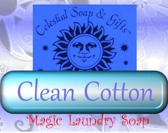 Clean Cotton Natural VEGAN Laundry Soap Powder  6 oz. SAMPLE 5-10 LOADS