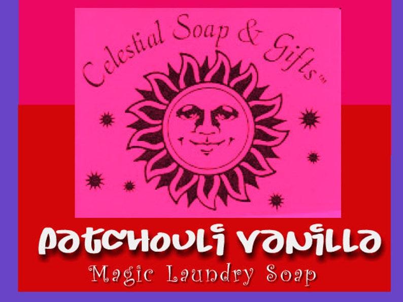 Patchouli Vanilla Natural VEGAN Laundry Detergent Soap Powder image 1