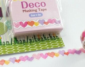 Sweet Heart Nami-Nami Die Cut Washi Masking Tape (8mm X 8M) TM00297