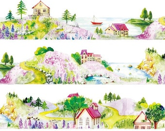 Little Village Countryside Washi Tape (33mm X 7M)